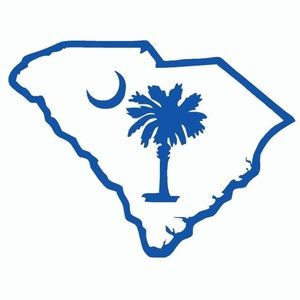 """6"""" Decal Sticker- SC STATE OUTLINE"""